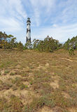 Cape Lookout lighthouse on the Southern Outer Banks of North Car. Cape Lookout Lighthouse on the Southern Outer Banks or Crystal Coast of North Carolina vertical Stock Image