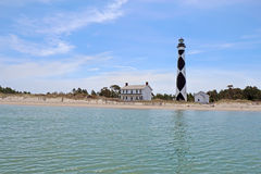 Cape Lookout lighthouse on the Southern Outer Banks of North Car. Cape Lookout Lighthouse on the Southern Outer Banks or Crystal Coast of North Carolina viewed Stock Photography