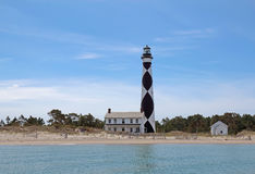 Cape Lookout lighthouse on the Southern Outer Banks of North Car. Cape Lookout Lighthouse on the Southern Outer Banks or Crystal Coast of North Carolina viewed Royalty Free Stock Image