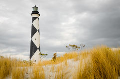Cape Lookout Lighthouse. View from the beach of lighthouse Royalty Free Stock Photography