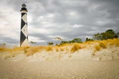 Cape Lookout Lighthouse. View from the beach of lighthouse Stock Images