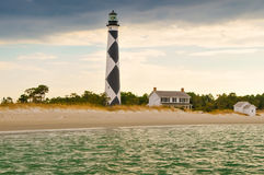 Cape Lookout Lighthouse. A view of Cape Lookout from the ocean Stock Photos