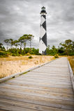 Cape Lookout Lighthouse. A walkway leading to Cape Lookout Lighthouse Royalty Free Stock Photo