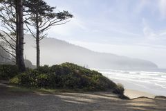 Cape Lookout State Park. On the Oregon Coast. A view of the cape in the mist Stock Photo
