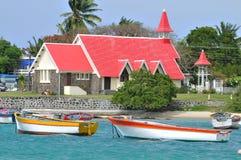 Cape Malheureux. Chapel Notre Dame Auxiliatrice on Mauritius island Royalty Free Stock Images
