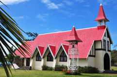 Cape Malheureux. Church Notre Dame Auxiliatrice on Cape Malheureux Royalty Free Stock Photography