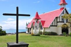 Cape Malheureux. Church Notre Dame Auxiliatrice on Cape Malheureux Stock Images