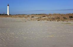 Cape May fyr i nytt - jersey. Royaltyfria Bilder