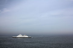 Cape May-Lewes Ferry. One of the fleet of the Cape May-Lewes ferry boats in the Delaware Bay Royalty Free Stock Image