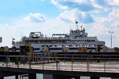Cape May - Lewes Ferry Boat at Dock stock photography