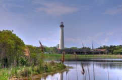 Cape May lighthouse. With mild HDR royalty free stock images