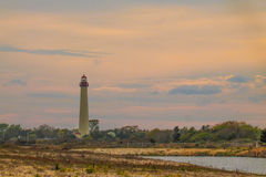 Cape may Lighthouse. Lighthouse from far awy trail Royalty Free Stock Image