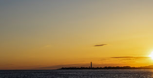 Cape May Lighthouse, New Jersey at sunset Royalty Free Stock Photo