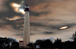 Cape may lighthouse, south jersey Stock Images