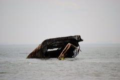 Cape May  shipwreck. A shipwreck off the cape may coast Stock Image