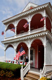 Cape May NJ Victorian house July fourth Stock Photo