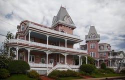 Cape May viktorianische Häuser stockfotos