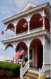 Cape May viktorianskt hus Arkivfoto