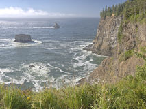 Cape Meares beach and cliffs Oregon coast. Stock Photography