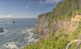 Cape Meares beach and cliffs Oregon coast. Royalty Free Stock Image