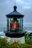 Cape Meares Lighthouse Lantern, Oregon royalty free stock photography