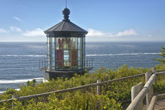Cape Meares lighthouse Oregon coast. Royalty Free Stock Photos