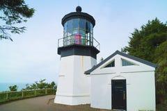 Cape Meares lighthouse on Oregon Coast stock photos