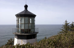 Cape Mears Lighthouse Tower Pacific Coast Oregon. Cape Mears Lighthouse on the Oregon Coast Stock Image