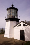 Cape Mears Lighthouse Nautical History West Coast Stock Image