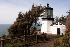 Cape Mears Lighthouse Pacific West Coast Oregon United States Royalty Free Stock Image