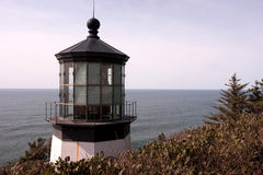 Cape Mears Lighthouse Pacific West Coast Oregon United States. Cape Mears Lighthouse sits high on a bluff overlooking the Pacific Ocean Royalty Free Stock Photos