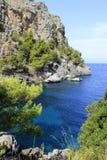 Cape in the Mediterranean Sea on Mallorca. Spain Royalty Free Stock Photos