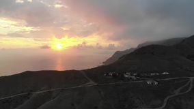 Meganom cape Crimea. Cape Meganom in the Crimea in october stock video