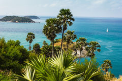 Cape is a mountain of rock in Phuket, Thailand Stock Image