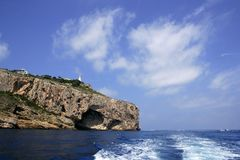 Cape Nao south view in Costa Blanca Alicante Stock Photography