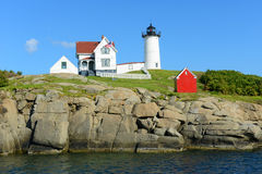 Cape Neddick Lighthouse, Old York Village, Maine,  Stock Image