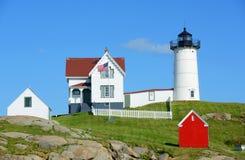 Cape Neddick Lighthouse, Old York Village, Maine Royalty Free Stock Images