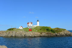 Cape Neddick Lighthouse, Old York Village, Maine Stock Image