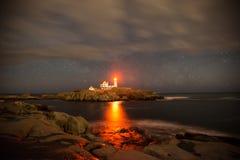 Cape neddick lighthouse. York Maine Stock Images