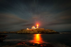 Cape neddick lighthouse. York Maine Stock Image