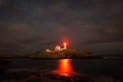 Cape neddick lighthouse. York Maine Royalty Free Stock Photo