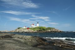 Cape Neddick Nubble Stock Photography