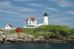 Cape Neddick Nubble Stock Photo