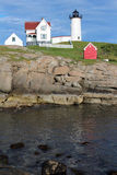 Cape Neddick Nubble Lighthouse Stock Images