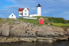 Cape Neddick Nubble Lighthouse Royalty Free Stock Photo