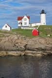 Cape Neddick Nubble Lighthouse Stock Photo