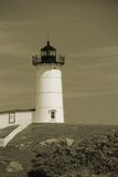 Cape Neddick Nubble in Sepia Stock Image