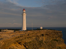 Cape Nelson. Lighthouse at sunset, Great South West Walk, Portland, Victoria, Australia royalty free stock photo