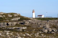 Cape Norman Lighthouse. Located at the north end of the Northern Peninsula in Newfoundland, Canada Stock Photos
