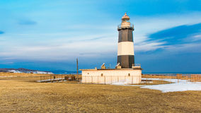 Cape Notoro  Sunrise  and sky Abashiri Hokkaido Japan.lighthouse Stock Photography